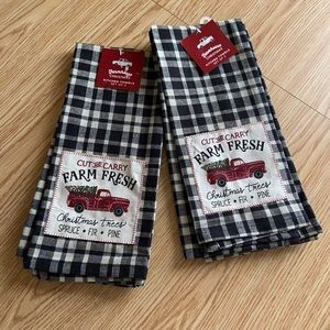 Farmhouse Christmas Kitchen Towel Set (2)